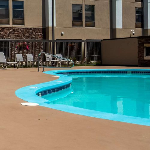 pool deck square